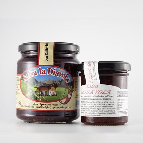 """Salsa """"la diavola"""" (Radicchio dell'Orso, pomodori secchi, peperoncino) 100g/300g"""