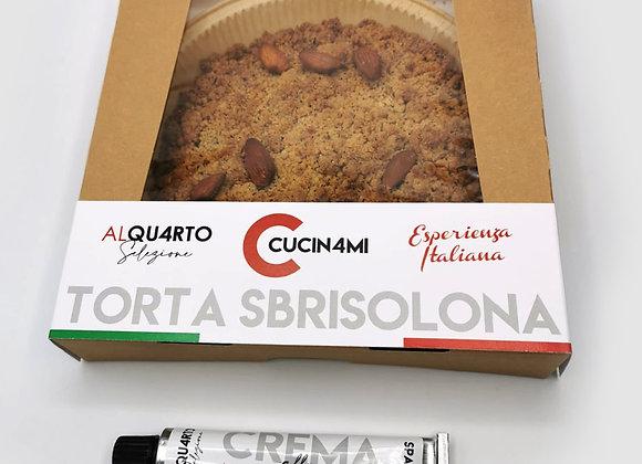 Torta Sbrisolona Intera + Crema alla Nocciola