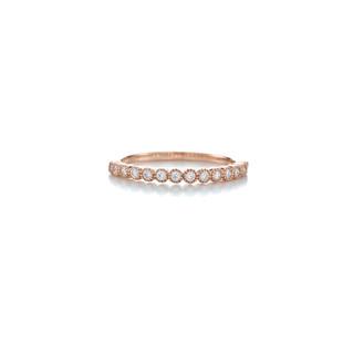 Classy Medium Bloom Prong Bezel Silver Zirconia Ring