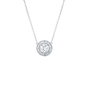 Classy Rounded Double Collier Silver Zirconia Necklace