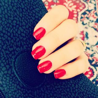 manicure semipermanente rosso centro est