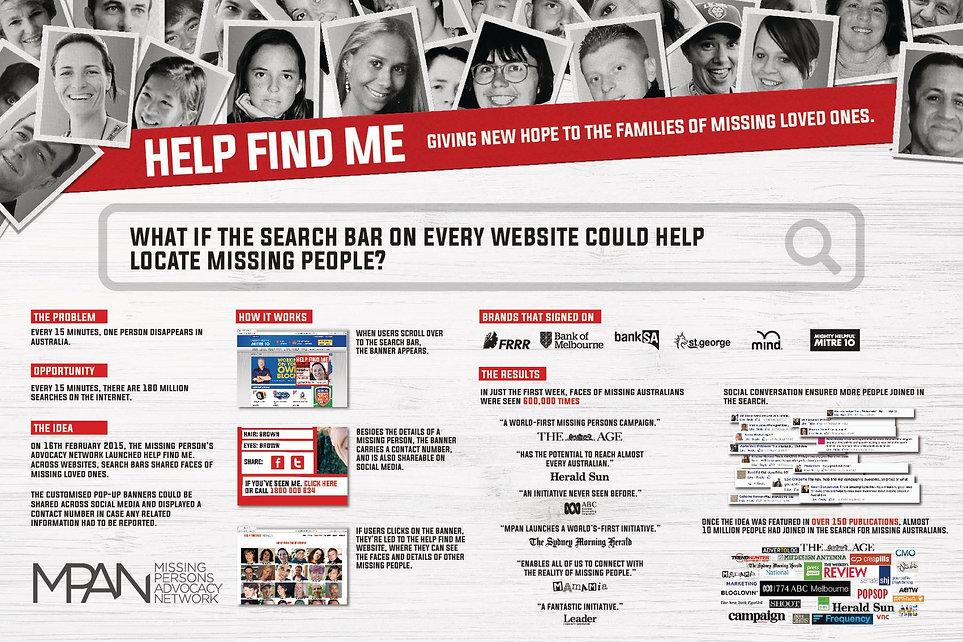 MPAN - HELP FIND ME - GREY - Cannes Lion