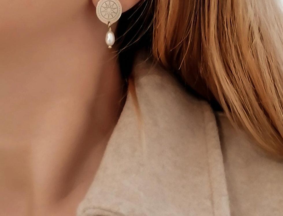 Boucles Céleste Perles