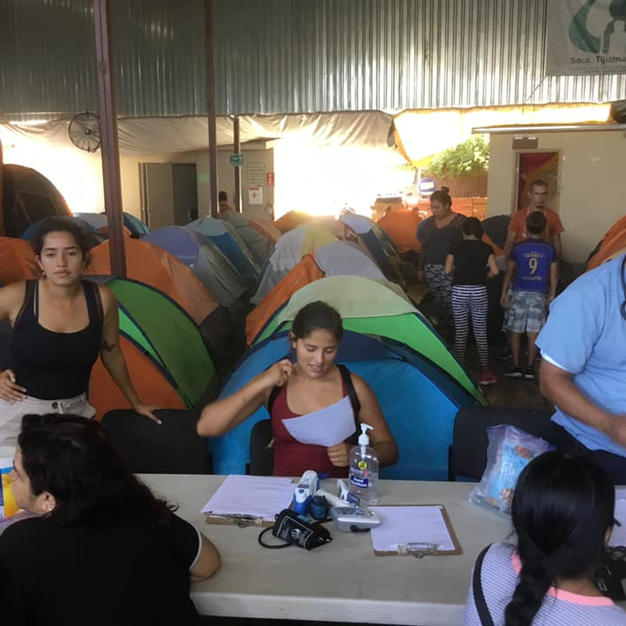 A migrant shelter in Tijuana, Mexico. Photo Courtesy of equity arcata and Border Angels volunteer Maureen McGarry.