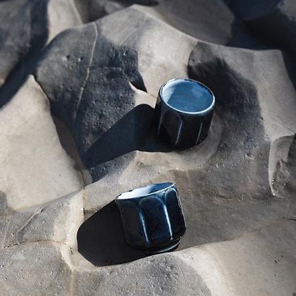 ENGOJI GAMA / Grande tasse bleu profond / YAMASHITA Kiyoshi YAMASHITA Hiroyo