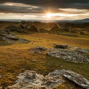 Sunset over the tors, near Poolburn reservoir, Otago High Country