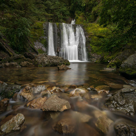 Ryde Falls  Canterbury, New Zealand  For another version of this image, have a look at the mono gallery