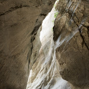Sawcut Gorge  The gorgeous colours and shapes of this river-worn slot canyon near Kekeregu, north of Kaikoura.