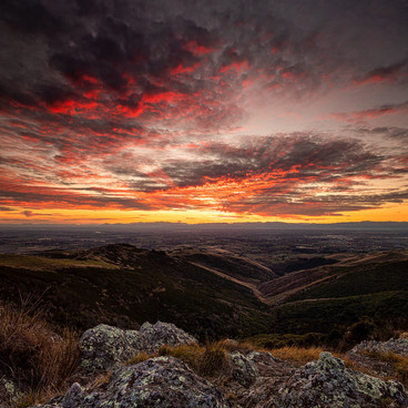 Port Hills Sunset  An opportunity for a local landscape shoot during New Zealand's COVID-19 level 3 lockdown; With restricted travel it's good to discover local treasurers and really appreciate being in the present - something I for one need to remnid myself frequently... life still holds joy and wonder when we allow ourselves to look for it.