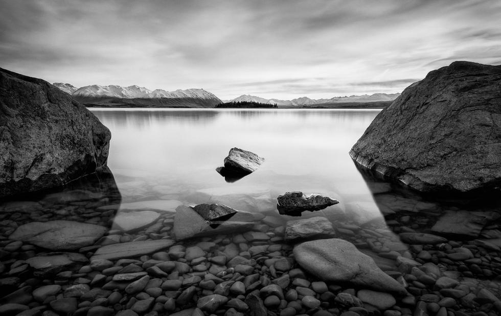 Tekapo Tranquility  A calm winter's morning looking up Lake Tekapo towards the Southern Alps.  This image is available as an A2 signed, limited edition (20) fine art print - Get in touch for more details  Print 1/20: $448.50 NZD