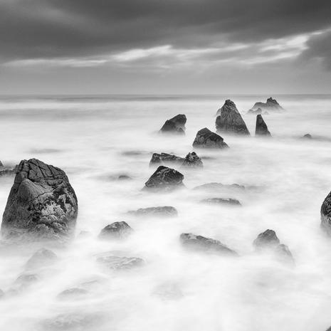 Storm Tide  The enigmatic west coast of New Zealand at dawn often provides some incredible pockets of light for photographers  BW009