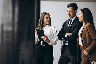 male-and-female-business-people-working-