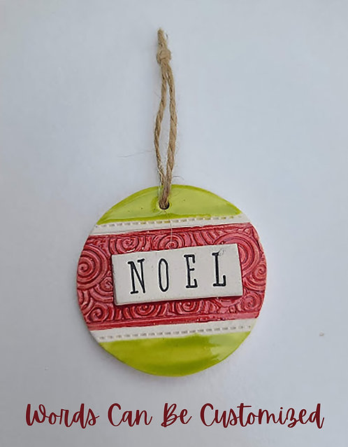 Customized Word Ornaments