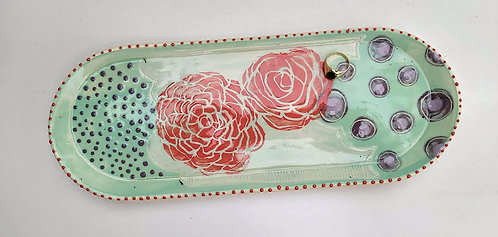 Pink Flower Tray