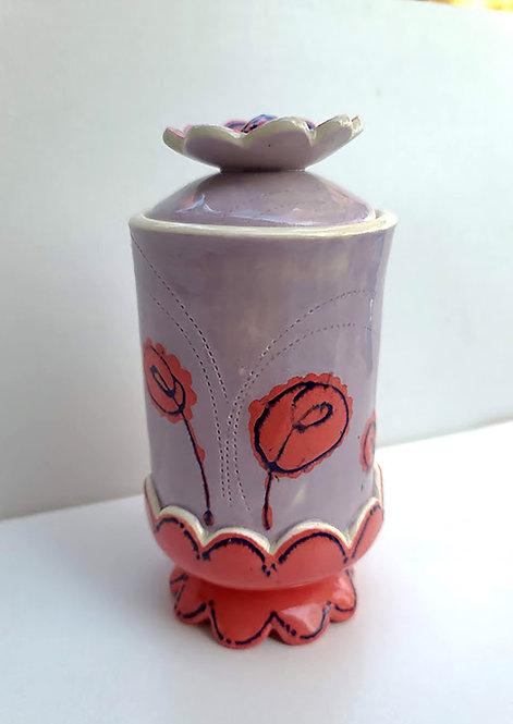 Red Poppy Jar