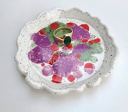 Speckled Color Burst Dish