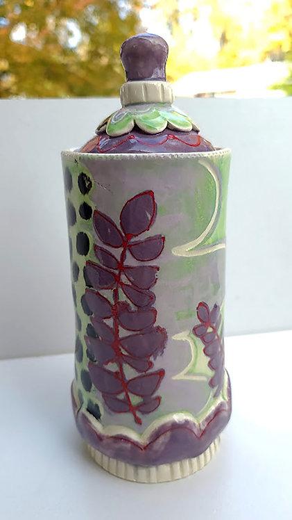 Purple Leaf Jar