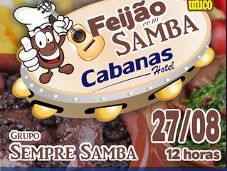 5ª Edição do Feijão com Samba vai agitar as Termas neste Sábado (27)