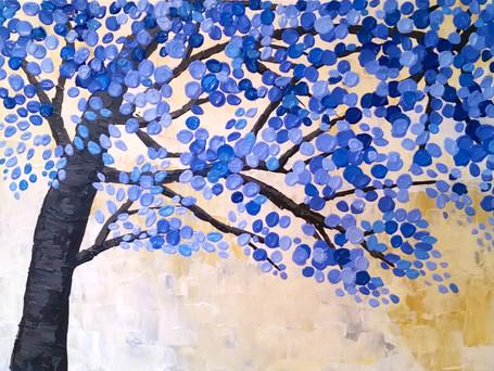 Purple and Blue Tree