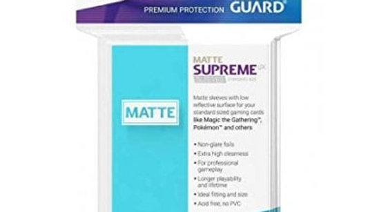 Ultimate Guard Supreme UX Sleeves Standard Size - MATTE Aquamarine (50)
