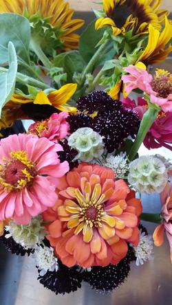 Farm flower bouquets