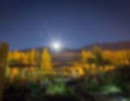 Patagonia Moon Rise over Earthship Patagonia Prangonia Retreat