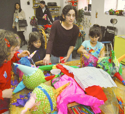 """Glueing the """"Piñatas"""""""