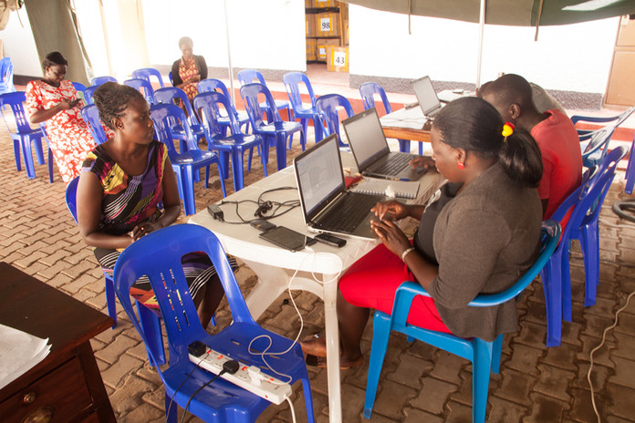Staff ensure that the data recieved matches the number of pupils each enumerator tested that day.