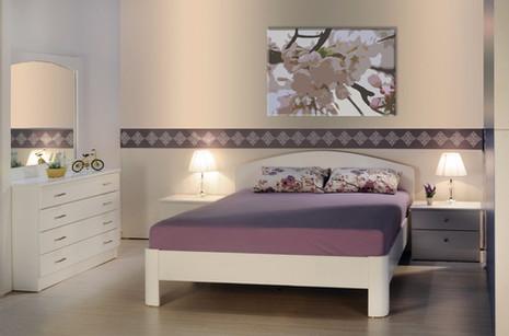 חדר שינה בורדו