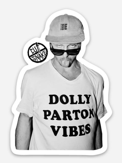Dolly Parton Vibes Sticker