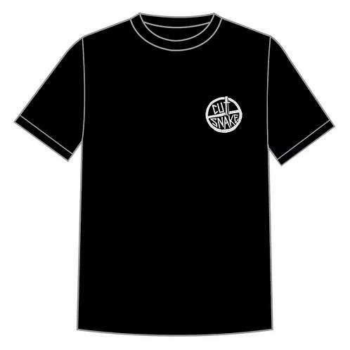 """Black """"Logo"""" Cut Snake T'Shirt"""