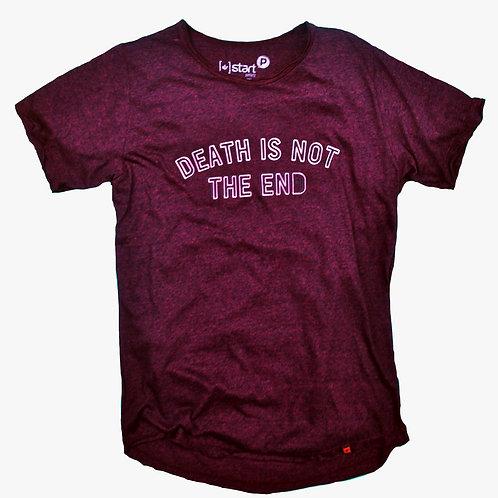 A morte não é o fim | Camiseta Abaulada Rústica