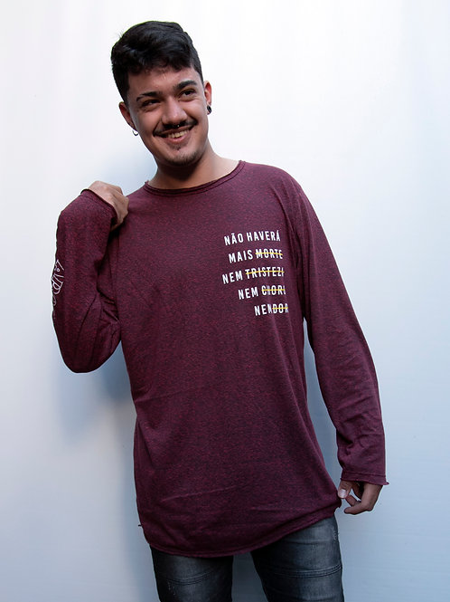 Não haverá mais morte | Camiseta Rústica Manga Longa