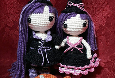 The Witch Sisters Lumy and Lully (Free Pattern)