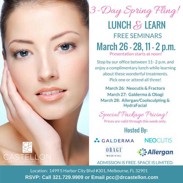 Lunch 'n Learn Social Media Ad for Plastic Surgeon