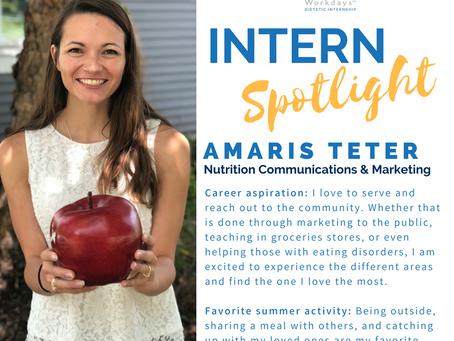 Meet Amaris Teter, Wellness Workdays Dietetic Intern