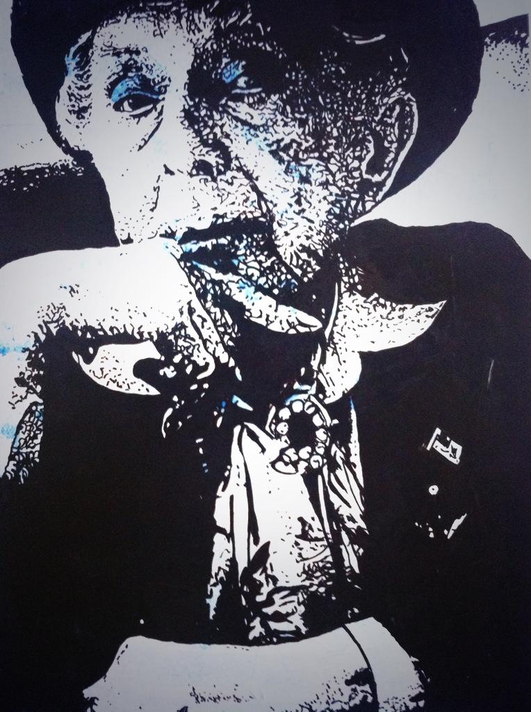 A portrait of Quentin Crisp