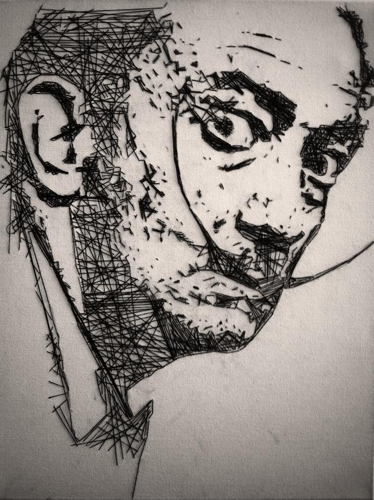 A portrait of Salvador Dali