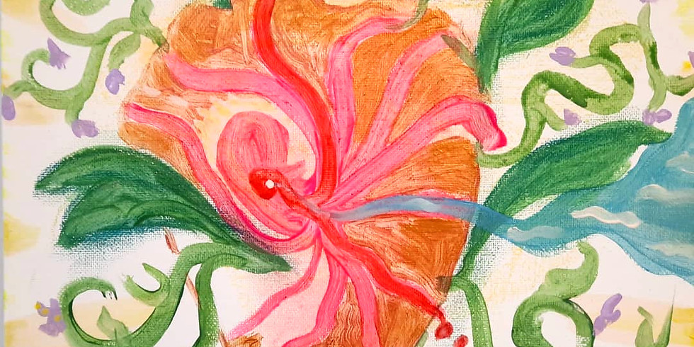 LIEFDE-LICHT-LEVEN. Stress en Burn-out workshop intuïtief schilderen