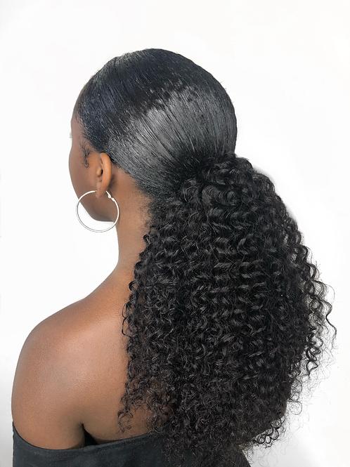 Curl Essence Human Hair Ponytail   Ebony B