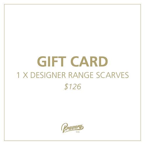 DESIGNER RANGE Scarf Gift Voucher + Postage