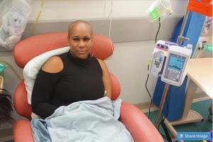 Rikki Stern having chemotherapy