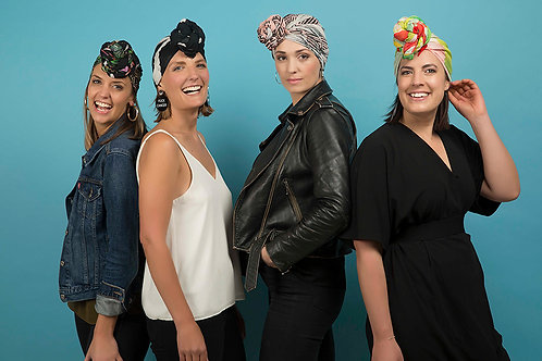 Turban Together (4 designer scarves + Free Tote and badge)