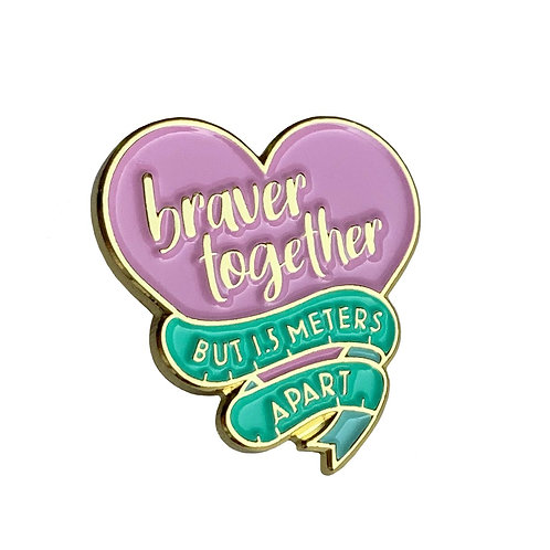 Bravery together Pin Badge