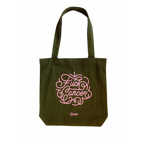 FCK CANCER tote bag - PINK