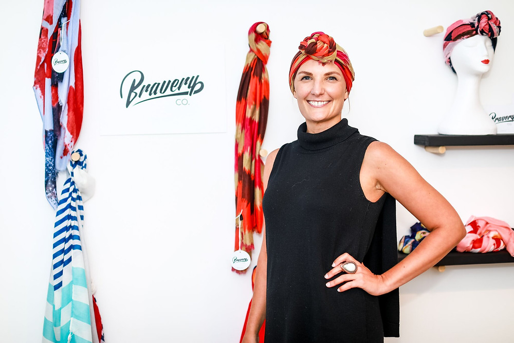 Emily Somers and the Bravery Co scarf pop up shop at Bossy London