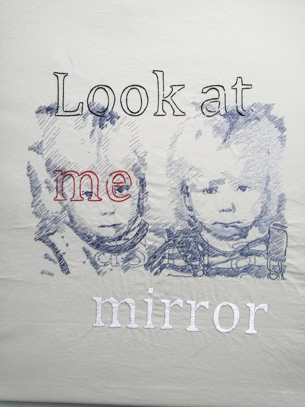 look at me as in a mirror, 2019