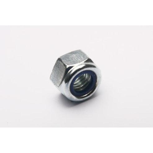 Nut M10 Nylock Silver