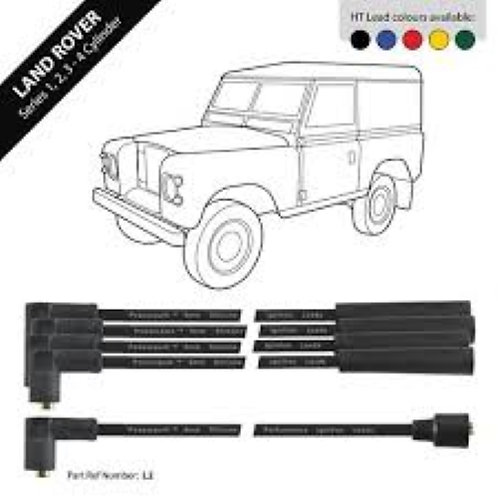 Sparkrite Land Rover Series (4 Cylinder Engines) HT Leads 8mm Double Silicone