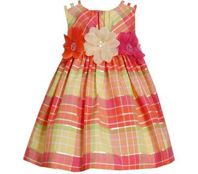 Vestido de Fiesta Estampado de Cuadros Bonnie Jean